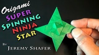 Origami Super Spinning Ninja Star