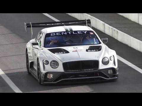 2018 Bentley Continental GT3 Testing at Monza: 4.0 Twin-Turbo V8 Roar!