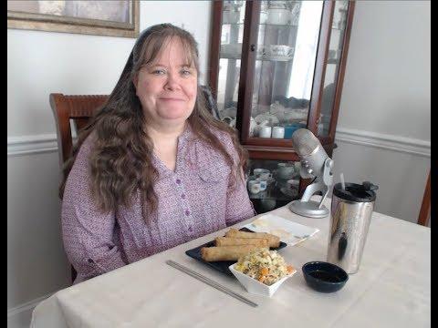 Mukbang, Pork Egg Rolls, Roman Noodles, Homemade Pickled Veggies, Conversation