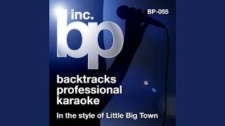 Boondocks (Karaoke Instrumental Track) (In the Style of Little Big Town)
