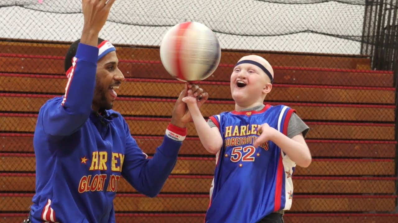 Boy with Rare Disease Gets Birthday Surprise from Harlem Globetrotters
