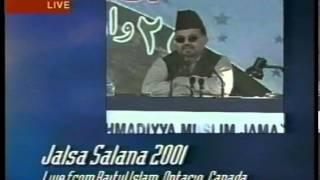 2nd Day Session Jalsa Salana Canada 2001