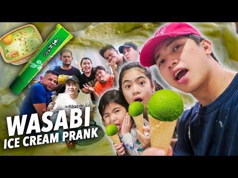 WASABI Ice Cream PRANK On Fam & Friends!! | Ranz and Niana