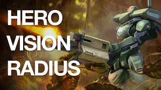 Vainglory Stats - Hero Vision Radius