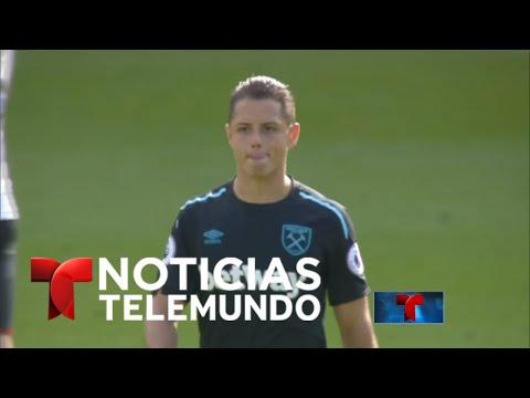 Chicharito Hernández se luce con doblete en el West Ham | Noticiero | Noticias Telemundo