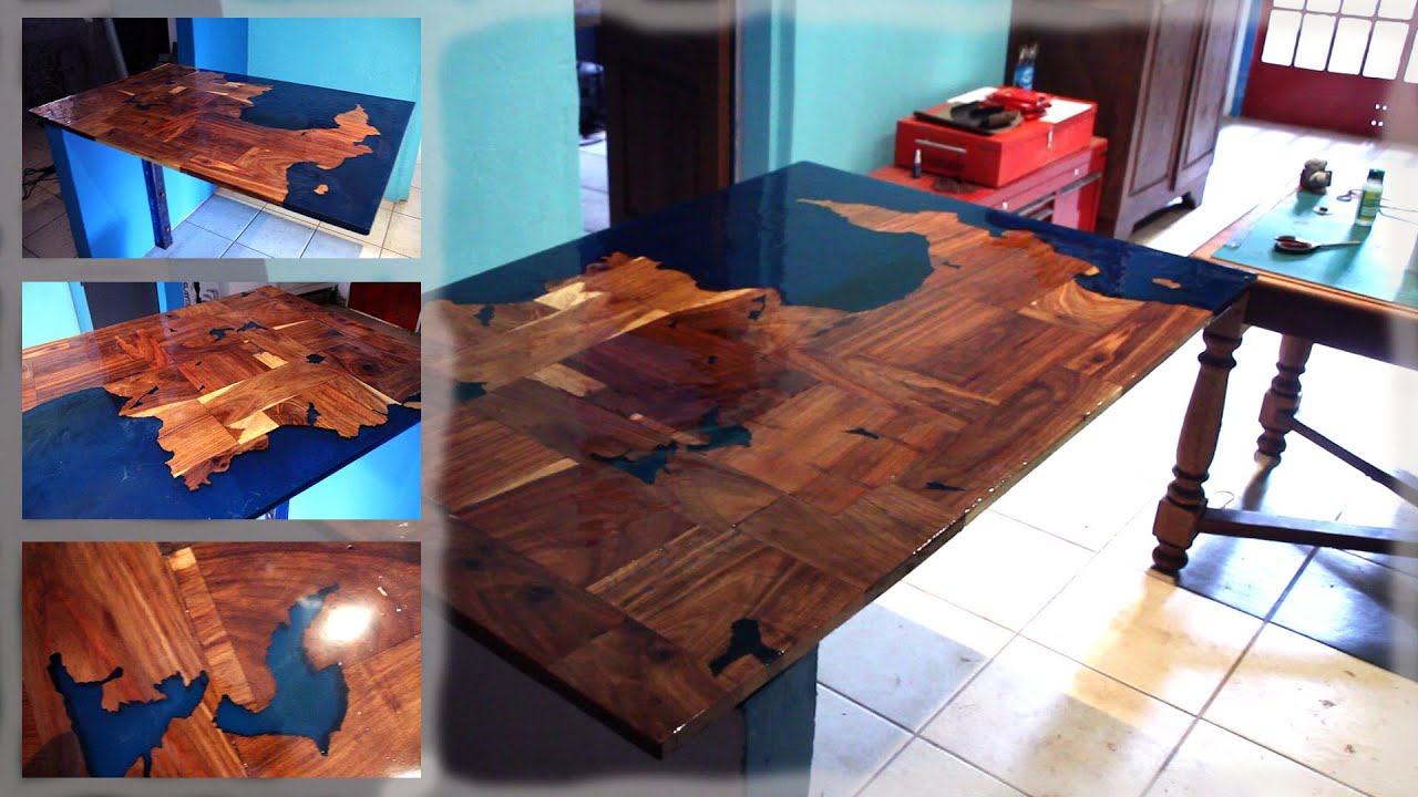 Making an ocean kitchen table | Epoxy and Teak