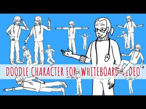 Programmer Man - Coder Character - Doodle Whiteboard AnimationAnimation | After Effects template