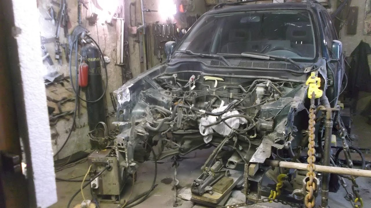 Honda CR-V . Кузовной ремонт Часть 4 .body repair