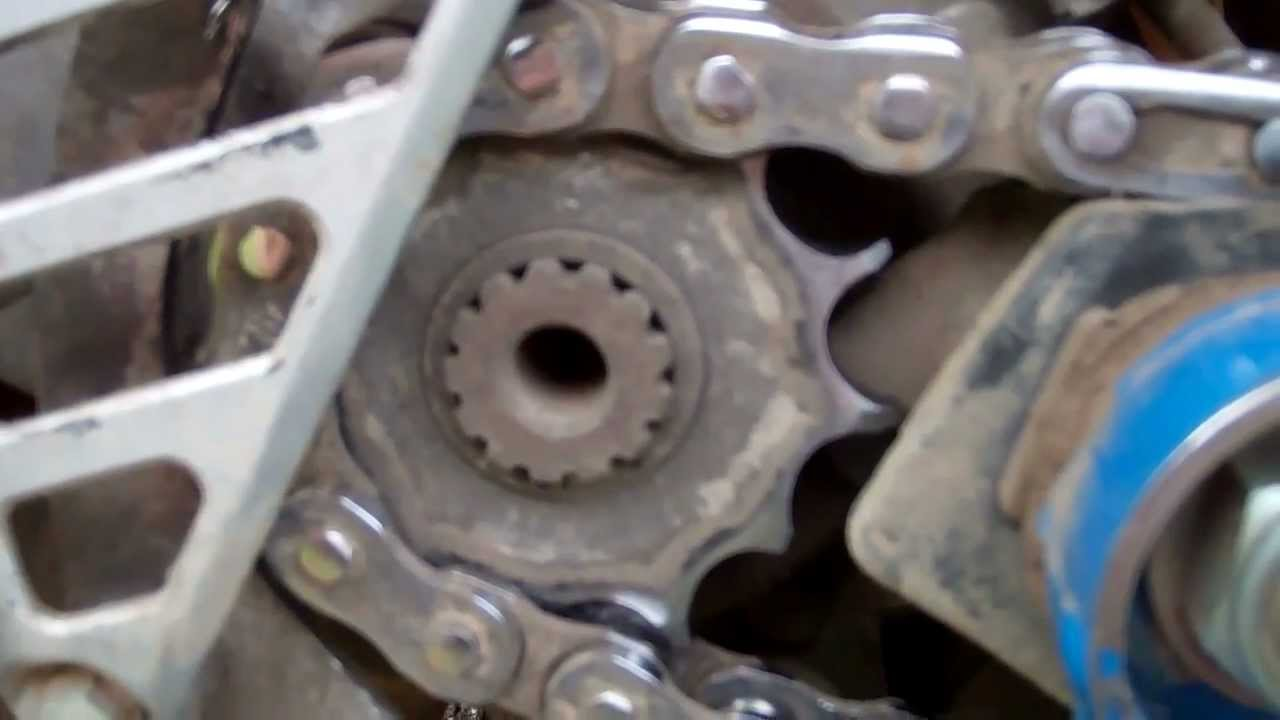 Worn Out Chain Sprockets Youtube