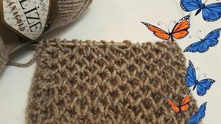Узоры спицами рельефный соты - самый красивый способ. How to knit honeycomb stitch.