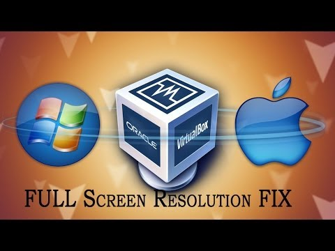 Full Screen Resolution fix for virtualbox(mac osx)
