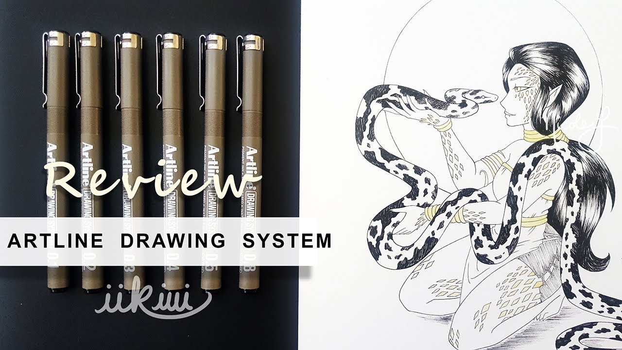 Artline : Art review artline drawing system pens iikiui youtube