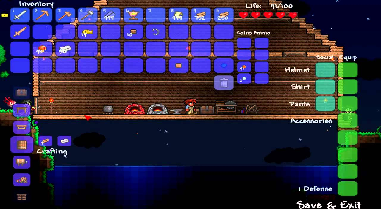 terraria how to make silk Terraria How To Make A Saw Mill - YouTube