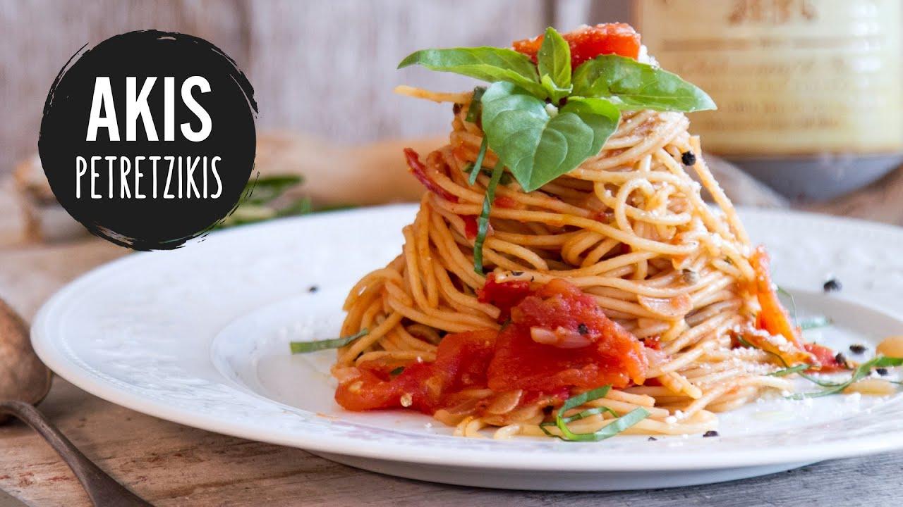 Classic Tomato Spaghetti Akis Petretzikis Youtube
