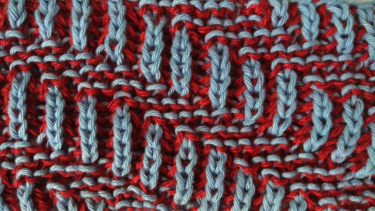 Brioche knitting *Diagonal* knitting patterns - YouTube