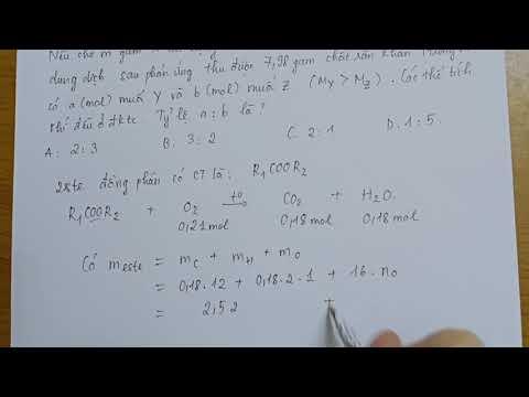 Giải bài tập hoá Este - ôn thi đại học (phần 1)