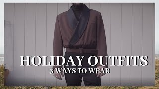 HOLIDAY OUTFIT IDEAS | 3 New Years Eve Outfit Ideas | Mens Outfit Ideas