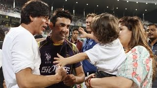 SRK gives interview after winning match at EdenGardens #Kolkata #KKRvMI 08.04.2015