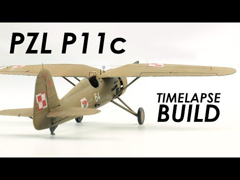 Mirage Hobby PZL P11c Build & Review - 1:48 Scale Model