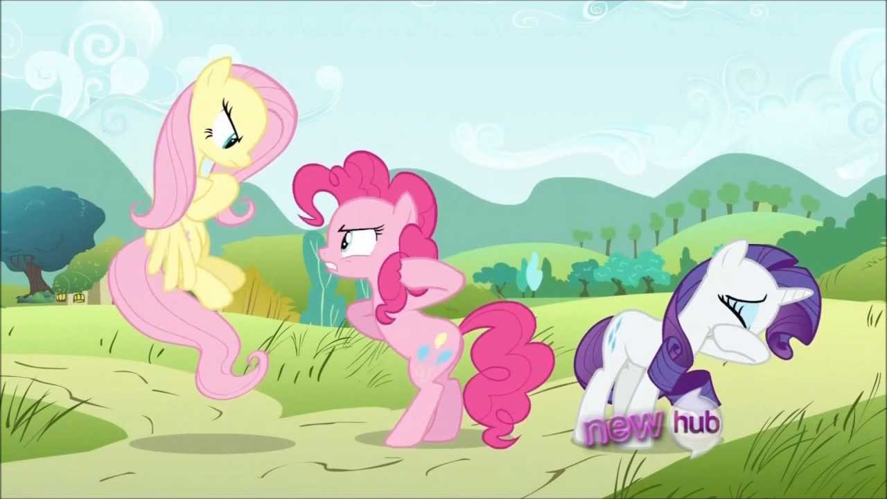 Fluttershy makes Pinkie Pie and Rarity Cry - My Little Pony - YouTube