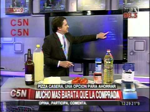 C5N - CONSUMO: PIZZA CASERA, UNA OPCION PARA AHORRAR