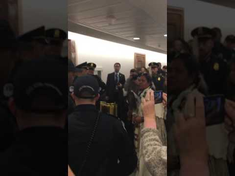 Lakota Woman Arrested at Scott Pruitt confirmation hearing