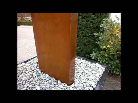 gartenbrunnen-slink.de cortenbrunnen-stele springbrunnen, Hause und Garten