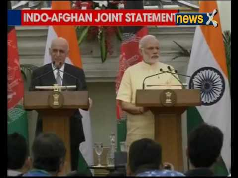 PM Narendra Modi and Afghan President Ghani issues joint statement