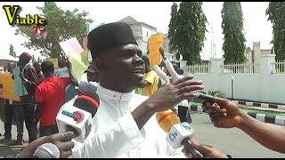 Happening Now In Abuja : Protest Rocks APC Secretariat as Ondo APC Accuses Akeredolu of Anti-Party