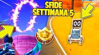 COME COMPLETARE le SFIDE SETTIMANA 5 su FORTNITE season 6