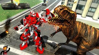 Wild Dinosaur Robot Vs Flying Dragon: Dino Games (by The Game Feast) / Android Gameplay HD