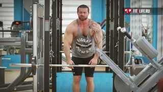 видео Протяжка со штангой стоя: какие мышцы работают?