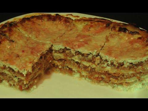 Lasagna Recipe. Lasagna With Cheese Sauce.