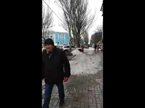 ДНР, Макеевка сегодня, центр, Юный техник, кинотеатр ВЛКСМ. Февраль 2020 г. DPR, Makeevka Today.