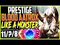 PRESTIGE BLOOD MOON AATROX | WTF? LOOKS LIKE A MONSTER | LoL TOP Aatrox vs Darius Season 9 Gameplay