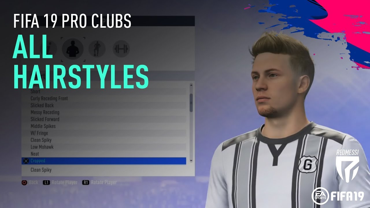 Fifa 19 Pro Clubs All Hairstyles Alle Frisuren