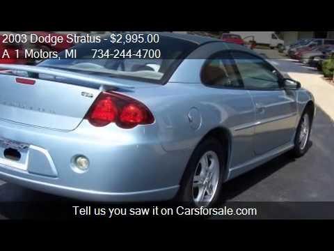 2003 Dodge Stratus Sxt Coupe For Sale In Monroe Mi