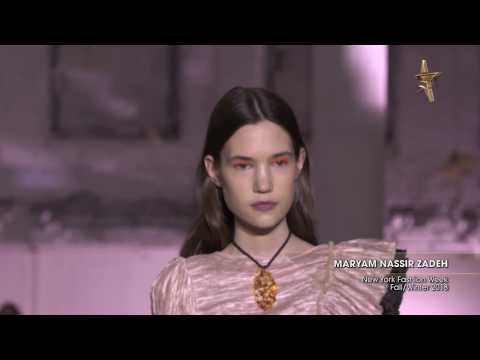 MARYAM NASSIR ZADEH New York Fashion Week Fall/Winter 2018