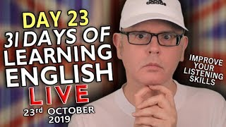31 Days of Learning English - DAY 23 - improve your English - KITCHEN DAY - 23rd October - WEDNESDAY