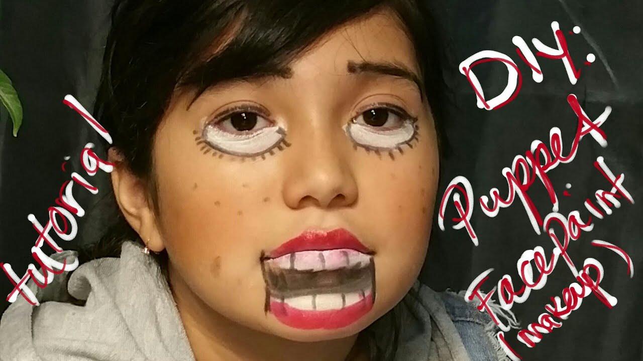diy puppet face paint halloween - Puppet Halloween