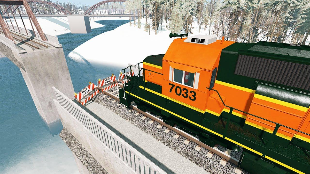 Train Derailment on the Bridge #4 – Beamng Drive