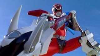 """Download Power Rangers S.P.D. - Red Ranger Battlizer Morph and Fight 