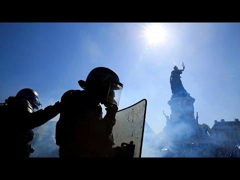 صدامات واعتقالات في الأسبوع الثالث والعشرين لاحتجاجات السترات الصفراء بفرنسا  …  - نشر قبل 27 دقيقة