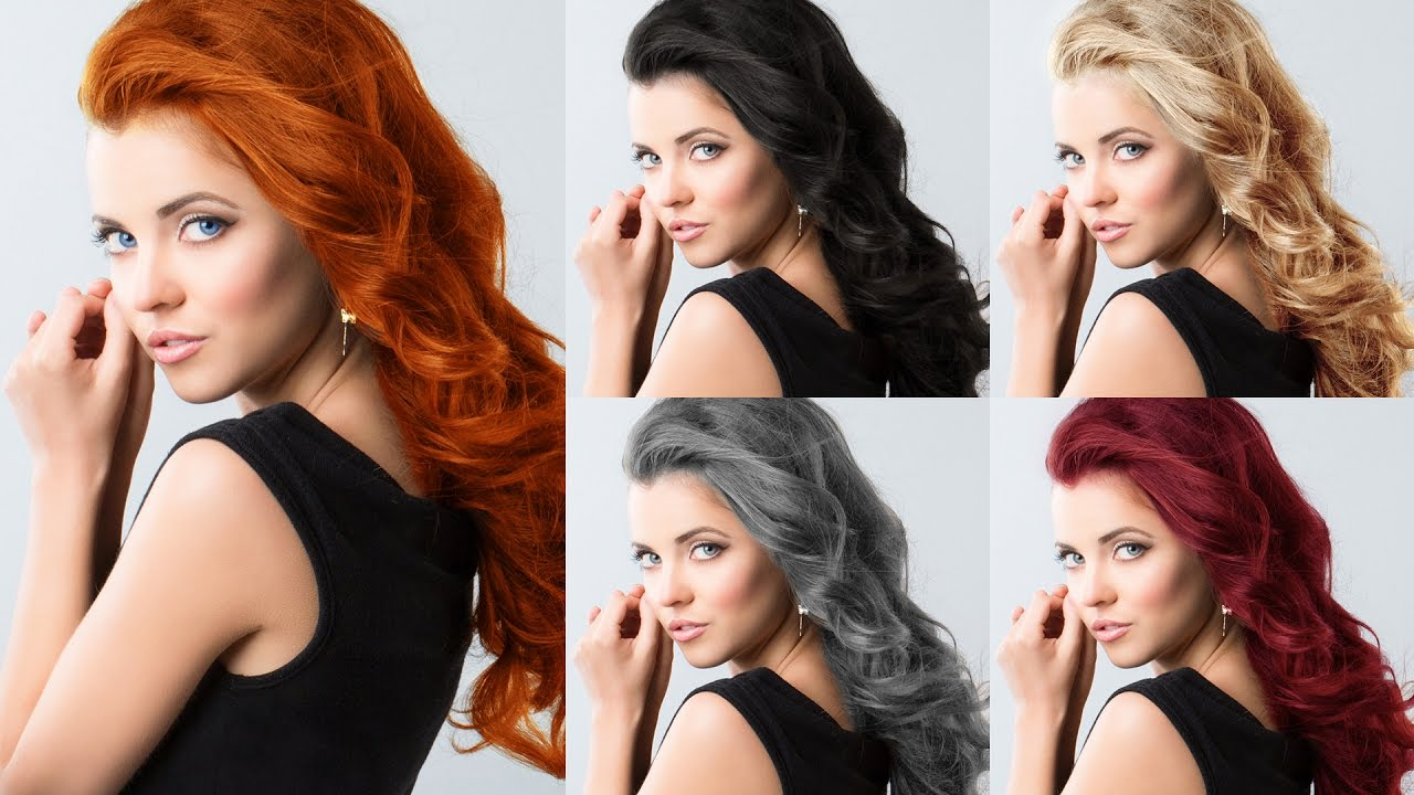 How To Change Hair Color Darkbrunette To Other Colors Photoshop