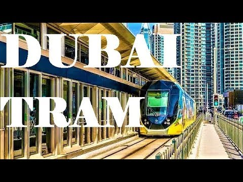 Dubai Tram ride from Dubai Media City Tram Station to Dubai Marina – United Arab Emirates  2019