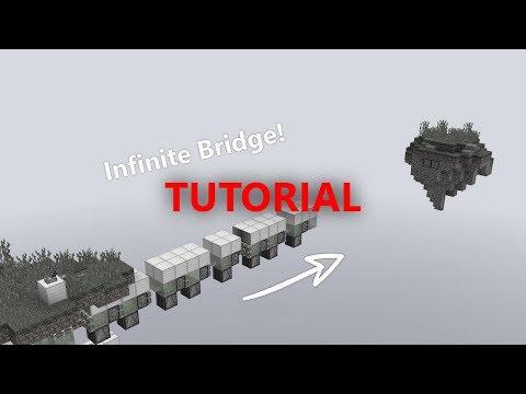 Infinite Self Building Bridge Tutorial | Minecraft Redstone