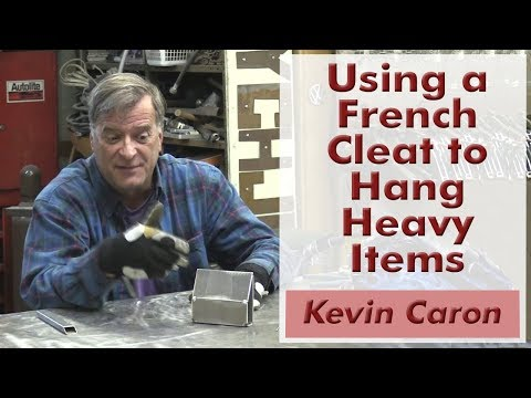 How to Make a French Cleat for Hanging Heavy Items - Kevin Caron