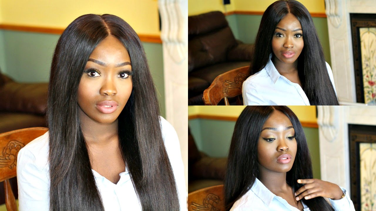 DIY BONE STRAIGHT WIG & HOW TO SECURE YOUR WIGS | MERCY'S HAIR EXTENSIONS CAMBODIAN STRAIGHT HAIR - YouTube