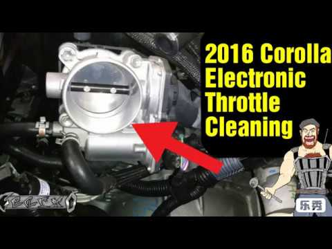 2016  Corolla electronic throttle cleaning