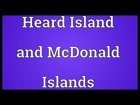 Heard Island and McDonald Islands Meaning